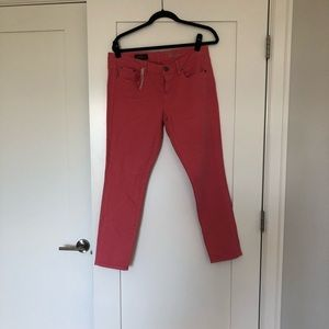 Pink toothpick jeans